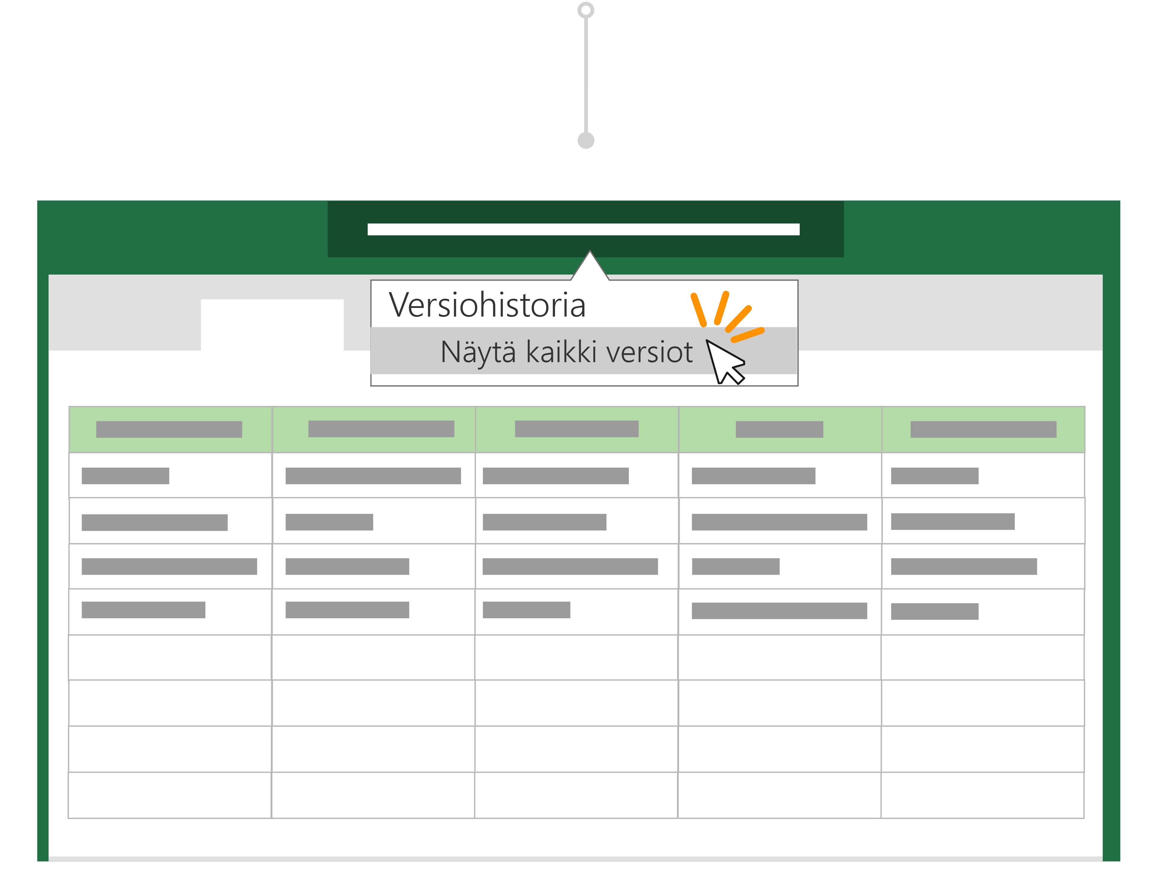 Voit palata tiedoston edelliseen versioon versio historia-toiminnolla.