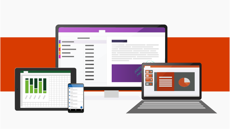 Office-sovelluksia eri laitteissa