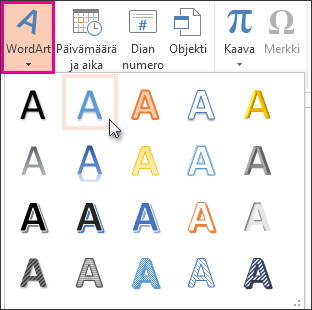 WordArt-tyylit
