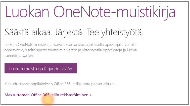 Näyttökuva siitä, miten saat ilmaisen Office 365 -tilin.