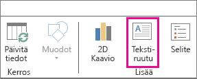 Power Mapin Aloitus-välilehden Tekstiruutu-painike