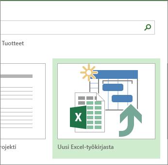 Excel-projektipohja