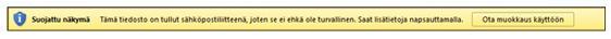 Sähköpostiliitteiden suojattu näkymä