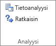 Tiedon analysointi -ryhmän Tiedon analysointi -painike