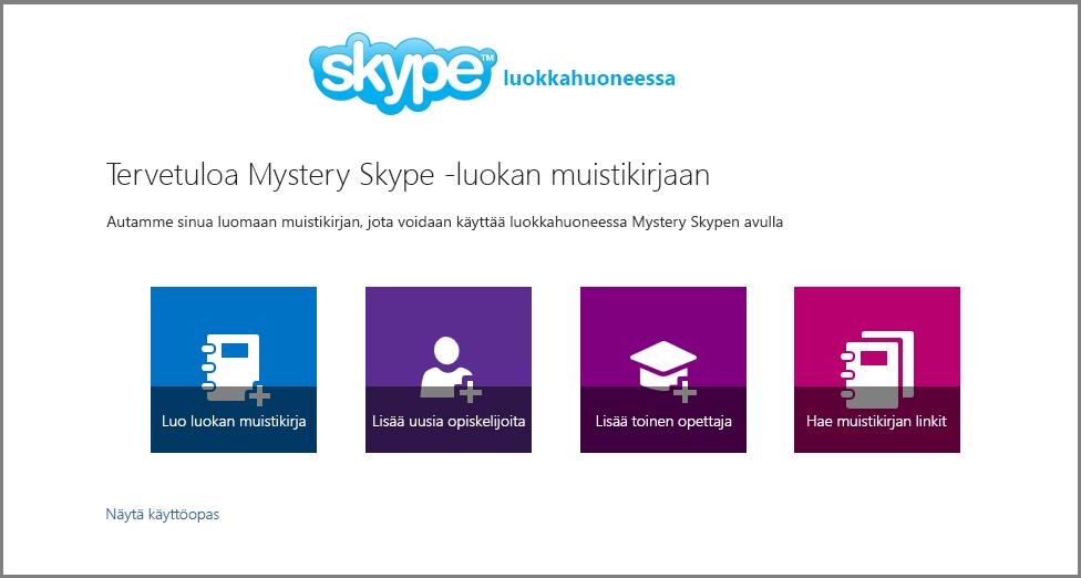 Tervetuloa Mystery Skypeen
