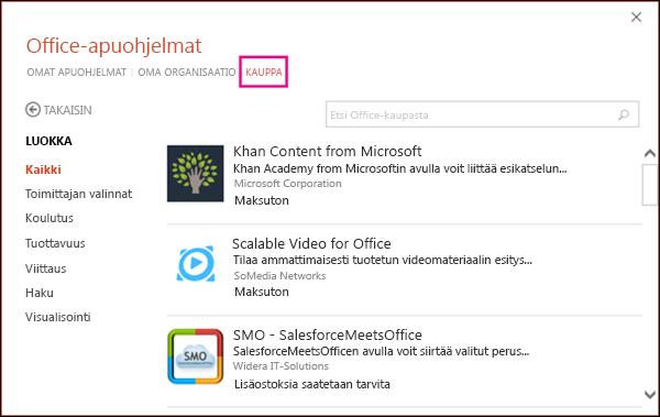 Office-apuohjelmien valintaikkuna, jossa Tallenna-painike näkyy korostettuna