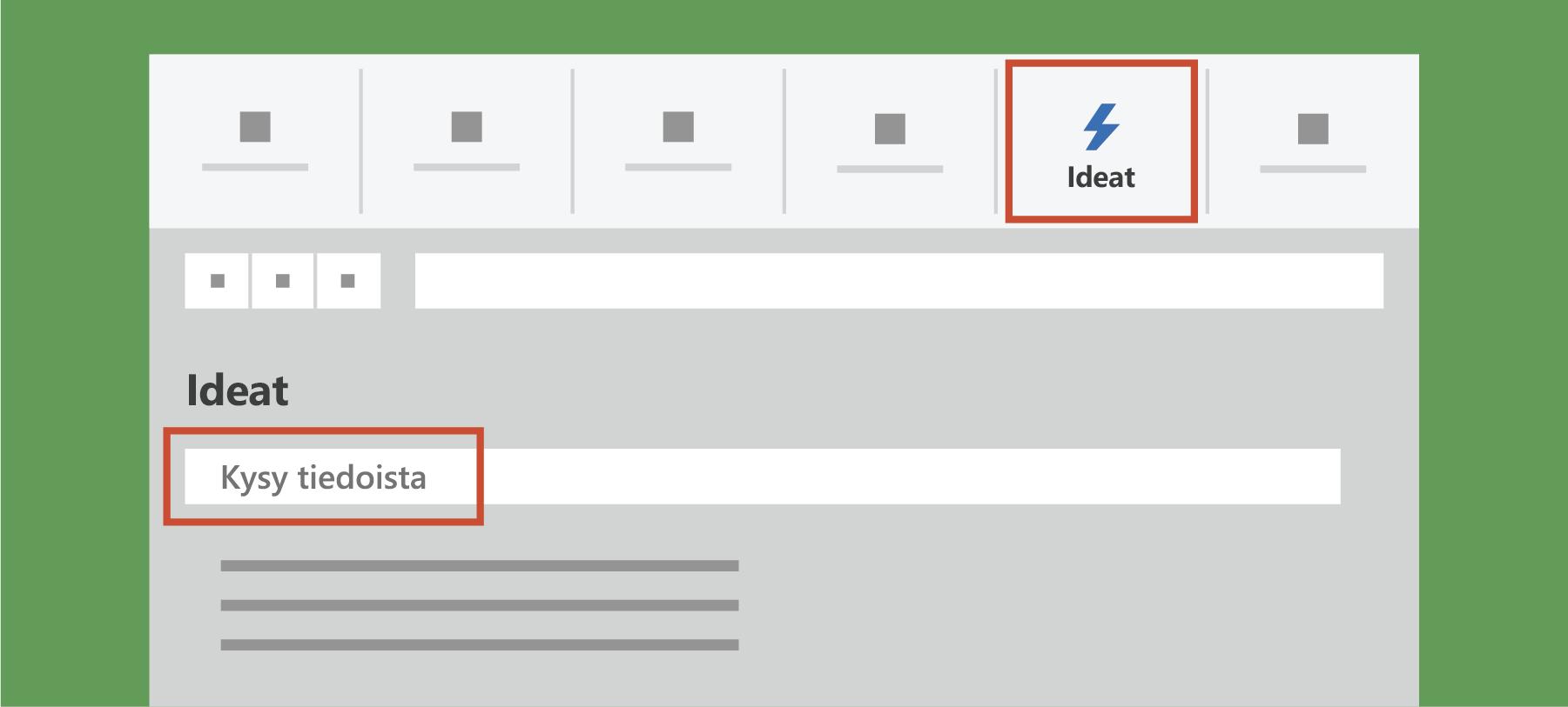 Näyttää Excelin Ideat