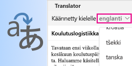 Outlook for Macin kääntäjä