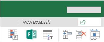 Muokkaa Excelissä -painike