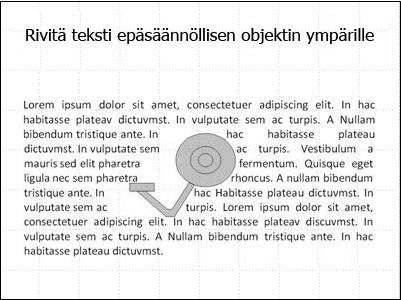 Dia jossa teksti on siirretty pois kuvan päältä