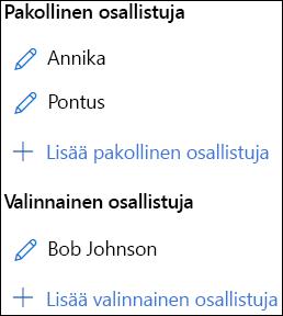Osallistujat-luettelo