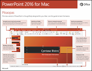 PowerPoint 2016 for Macin pikaopas