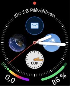 Apple Watchin kasvotusten Sähkö posti-kuvake