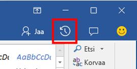 Office-tiedostojen eri versioiden tarkasteleminen