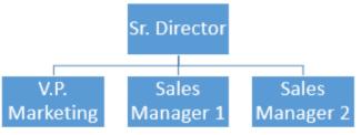 Yksinkertainen organisaatiokaavio