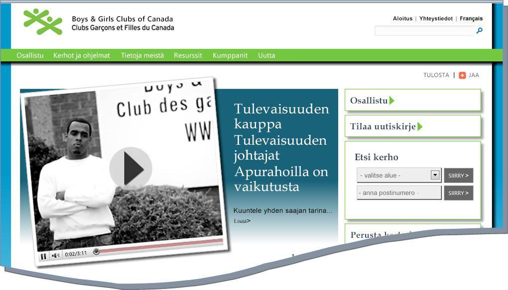 Tilannekuva BGCC-sivustosta