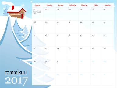 PowerPoint Onlinen kalenterimalli