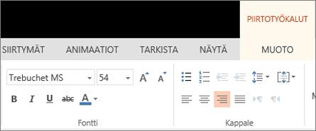 Tekstin muotoileminen