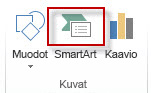 SmartArt Lisää-välilehden Kuvat-ryhmässä