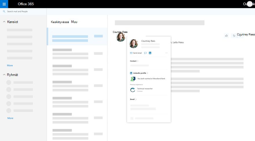 Outlook-Profiilikortti