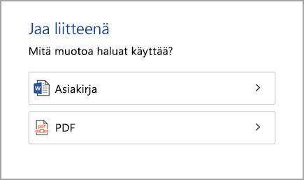 Asiakirja tai PDF