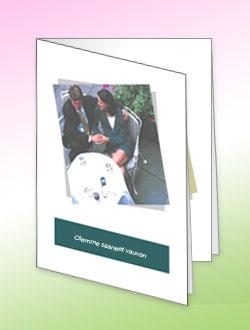 Microsoft Office Publisher 2007:ssä luotu onnittelukortti