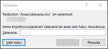 Muokkaa salasanalla suojattua Excel-tiedostoa