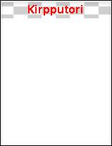Tämä palkki on yksittäisen sivun yläosassa.