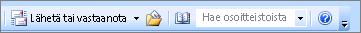 Outlook 2007-haun osoite työkirjaan-ruudussa
