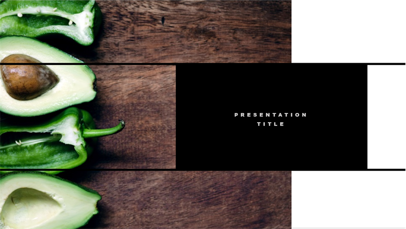 kuva esityksen kansi sivusta, jossa on tietoja sisustus suunnittelu ideoista