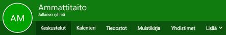 Outlookin verkkoversion Ryhmät-valintanauha