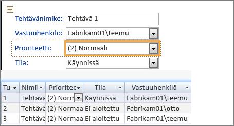 Näkymän luominen Microsoft Accessilla