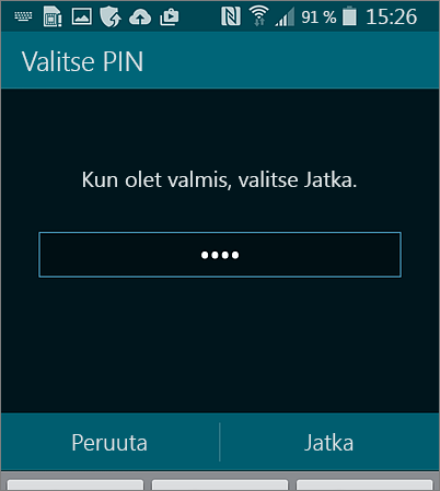 PIN-koodin luominen Android-laitteella
