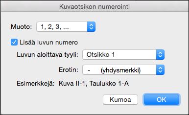 Lisää lukujen numerot automaattisesti kuvateksteihin Wordissa