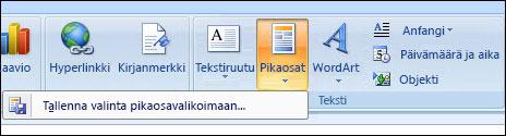 Outlook 2007:n pikaosat