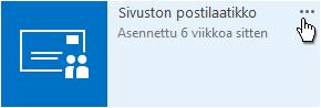 Sivuston postilaatikko -sovellus ...-lisätietopainikkeella.