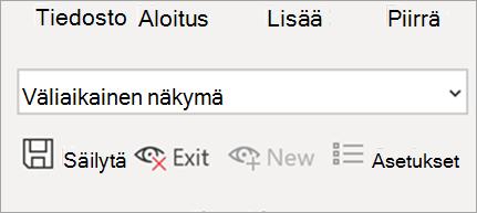 Näyttää taulukkonäkymän Excelissä