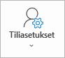 Outlook-tilin asetukset-painike
