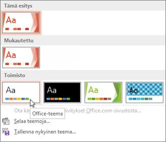 Office-teeman valitseminen