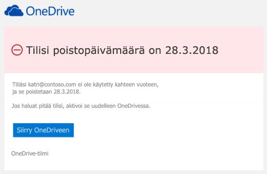 Näyttökuva sähköpostiviestin