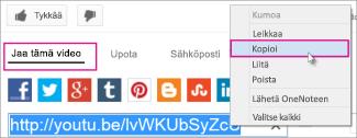 Kopioi URL-osoite