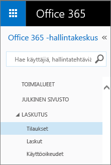 Linkki Office 365 Small Business Premiumin tilaussivulle.