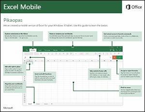 Excel Mobilen pikaopas