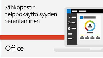 Video sähköpostin helppokäyttöisyyden parantamisesta.