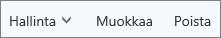 Yhteystietojen hallinta, muokkaaminen ja poistaminen Outllook.comin komentopalkissa