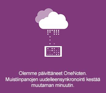 Synkronoi näytön OneNote for Android