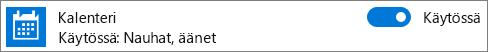Kalenterin ilmoitusten poistaminen käytöstä Windows 10:ssä käyttämällä järjestelmäasetuksia