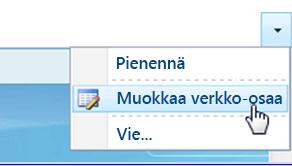 Valitse Muokkaa WWW-osaa