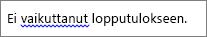 Mahdollinen kielioppivirhe osoitettuna sinisellä aaltoviivalla