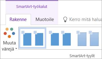 SmartArt-työkalujen Rakenne-välilehden Muuta värejä -painike